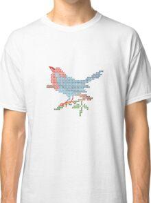 Dear Little Cross Stitch Bird Classic T-Shirt