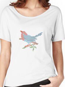 Dear Little Cross Stitch Bird Women's Relaxed Fit T-Shirt