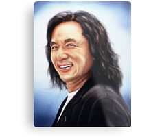 portrait of Jackie Chan Metal Print
