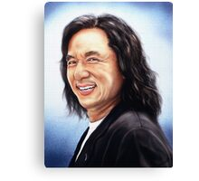 portrait of Jackie Chan Canvas Print