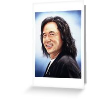portrait of Jackie Chan Greeting Card