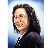 portrait of Jackie Chan Photographic Print