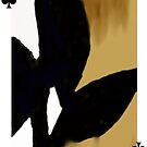 American Expressionism-3 of Clubs by Peter Simpson