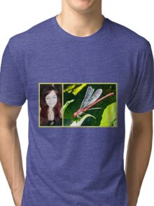 Large Red Damselfly & Me Tri-blend T-Shirt