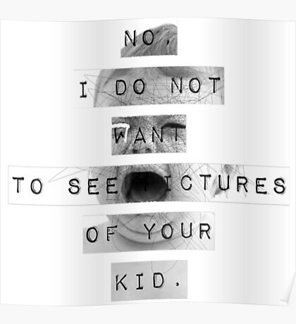 Facebook Moms (Black & White) Poster