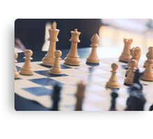 Chess Board Canvas Print