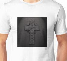 Celtic Knotwork Cross 01 - Leather Texture 01 TShirt Unisex T-Shirt