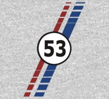VW 53, Herbie the Love Bug's racing stripes and number 53 Kids Clothes