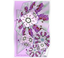 Orchid Cubed Poster