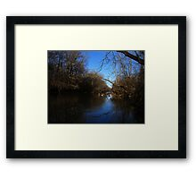 Blue Sky in the Water Framed Print