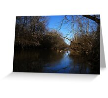 Blue Sky in the Water Greeting Card