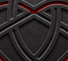 Celtic Knotwork Valentine Heart 01 - Leather Texture 01 TShirt Sticker