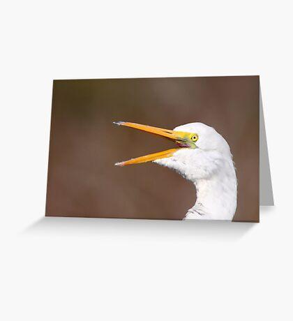 Egret Squawk Greeting Card