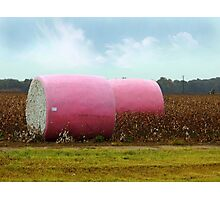 The Breast Cancer Awareness Cotton Bales Photographic Print