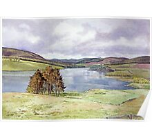 The Backwater Dam, Glen Isla, Angus Poster