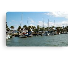 Fort Pierce Marina Canvas Print