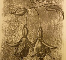 Fuschia stem (charcoal) by KarenJI1962