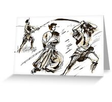 The 7 Samurai A Sketch Greeting Card