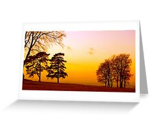Surrey Sundown Greeting Card