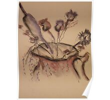 Dried Flowers ( Pencil & Pastel) Poster