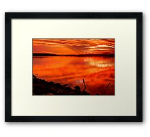 Shawdows Across the Sound Framed Print