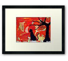Superstition Framed Print