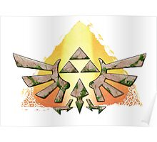 Stone Triforce Poster