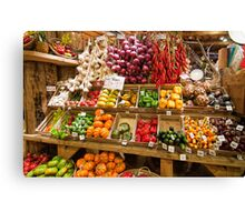 Vegetable Display Canvas Print