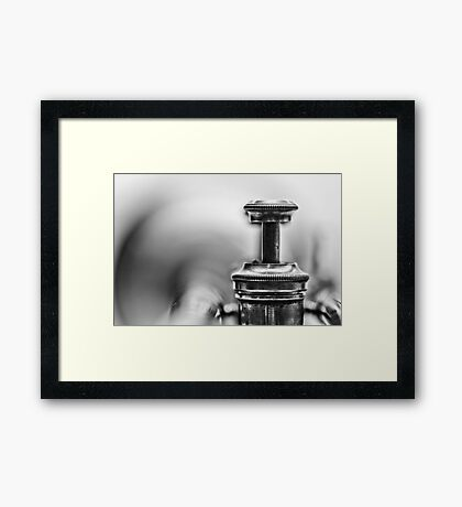 Kind of Blue...(bw) Framed Print
