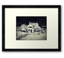 Vincent Van Gogh - The Yellow House (Black and White) Framed Print