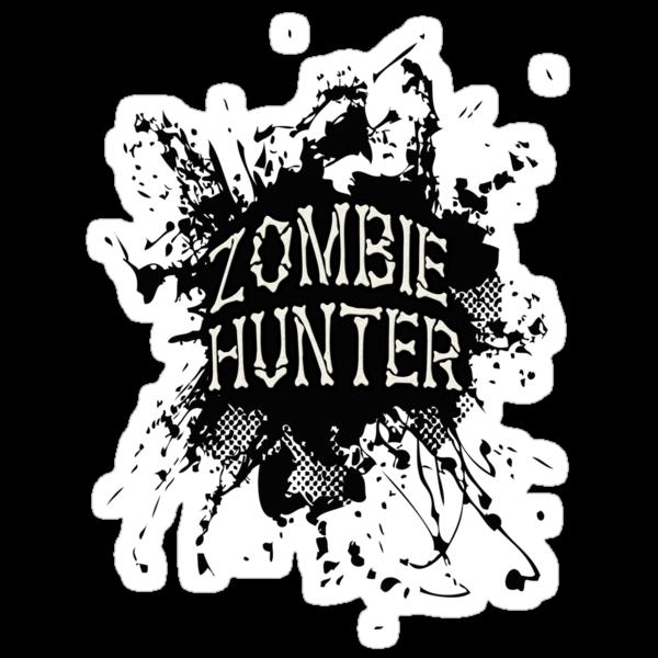 Zombie Hunter black grunge by Tony  Bazidlo
