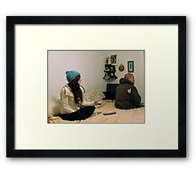 Searching for a Glimmer of Hope While Watching the Primary Framed Print
