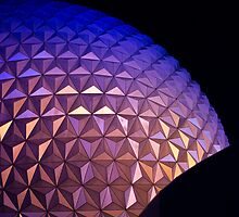 Disney Epcot Center Dome at Night by cadman101