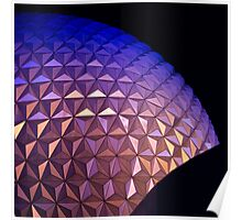 Disney Epcot Center Dome at Night Poster