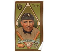 Benjamin K Edwards Collection Charles O'Leary Detroit Tigers baseball card portrait Poster