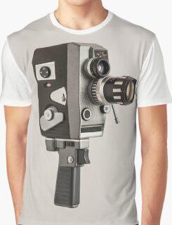 Retro Cine Camera Graphic T-Shirt