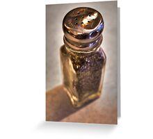 Black Pepper Shaker Greeting Card