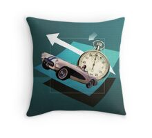 She's going the distance Throw Pillow