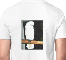 WHITE COCKATOO GREETING TOURISTS IN LORETO,MEXICO Unisex T-Shirt
