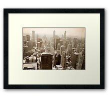 Overlooking Chicago Framed Print
