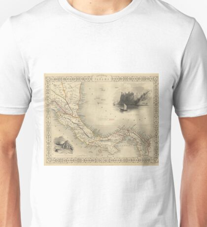 Vintage Map of Panama (1851)  Unisex T-Shirt