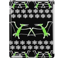 Dinosaur Pterodactyl Ugly Christmas Sweater iPad Case/Skin