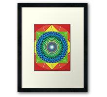 Color wheel canva. Mandala canva. Framed Print