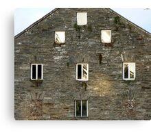 Irish Barn Windows  Canvas Print