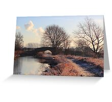 Touch of frost Greeting Card