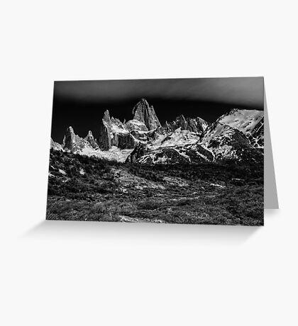 Mt Fitzroy #1  Monochrome Greeting Card