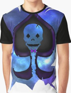 Lost In Galaxy; Spade Skull Graphic T-Shirt