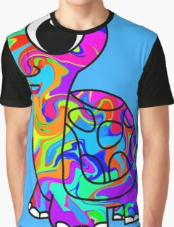 Colorful Tortoise Graphic T-Shirt