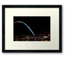 Millenium Bridge at night Framed Print