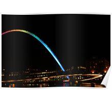Millenium Bridge at night Poster
